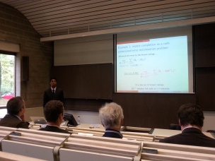 PhD thesis defense, ULg, Liege, Belgium, 2014. Courtesy of Raphael Liegeois.