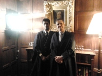 With Rodolphe Sepulchre at Sidney Sussex College, Cambridge University, UK, 2015.