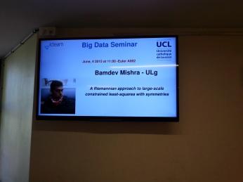 Seminar at UCLouvain, Belgium, 2015.
