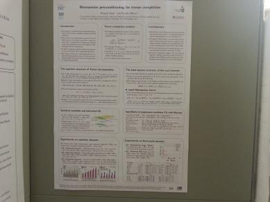 Poster presentation with Hiroyuki Kasai at low-rank and tensor workshop, Bonn, Germany.