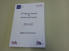 32nd Benelux meeting abstracts, Belgium, 2013.