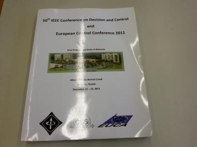 IEEE CDC at Orlando, Florida, 2011.