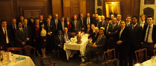 Control group dinner, Cambridge, 2014.
