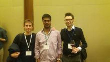 With Pierre (left) and Mattia at CDC 2016.