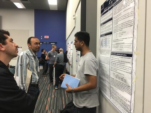 At optimization for machine learning workshop in NIPS 2015, Montreal, Canada. Courtesy of Hiroyuki Kasai.