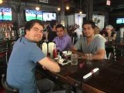 With Nicolas and Roshan at ICML 2016, NY. Courtesy of Hiroyuki Kasai.