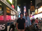 With Hiroyuki at Times Square on way back from ICML conference 2016.