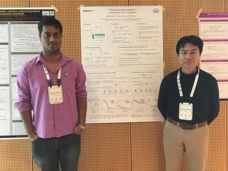 With Hiroyuki at NIPS, 2016.