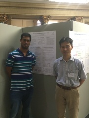 With Hiroyuki at our poster on Riemannian preconditioning for tensor completion. Courtesy of Hiroyuki Kasai.