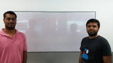 With Pratik working on the structured matrix completion problem formulation. Courtesy of Siva Kaveri@amazon.