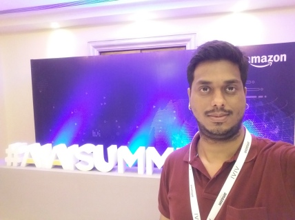 At Amazon India Artificial Intelligence (AIAI) Summit 2017, Bangalore.