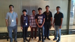 With colleagues at Amazon.com, Bangalore.