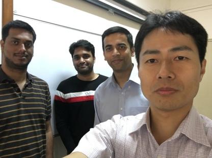 With Hiroyuki Kasai, Partha Talukdar, and Madhav Nimishakavi during Hiroyuki's visit to IISc.