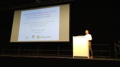 Hiroyuki presenting at ICML 2018