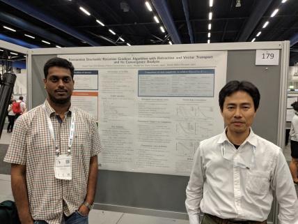 With Hiroyuki at ICML 2018