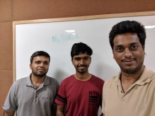 With Mayank and Pratik on McTorch release.