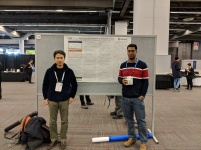 With Hiroyuki, presenting our paper on inexact trust-region algorithms on manifolds at NeurIPS 2018.