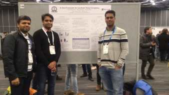 With Madhav and Pratik at our poster at NeurIPS 2018.