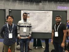With Hiroyuki and Pratik at poster presentation @ ICML 2019